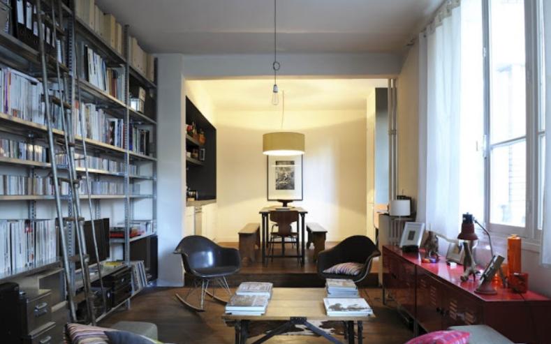 Mudarse a un apartamento retro vintage