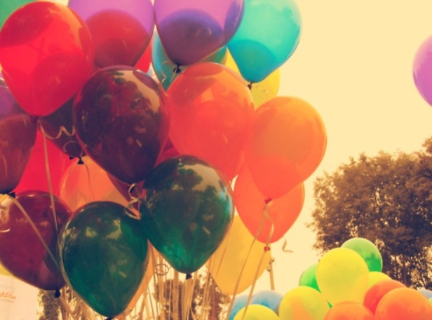 La historia de los globos de fiesta