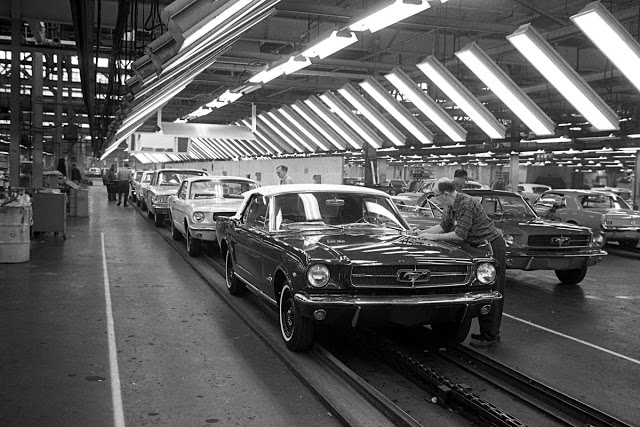 ford mustang assembly line 1