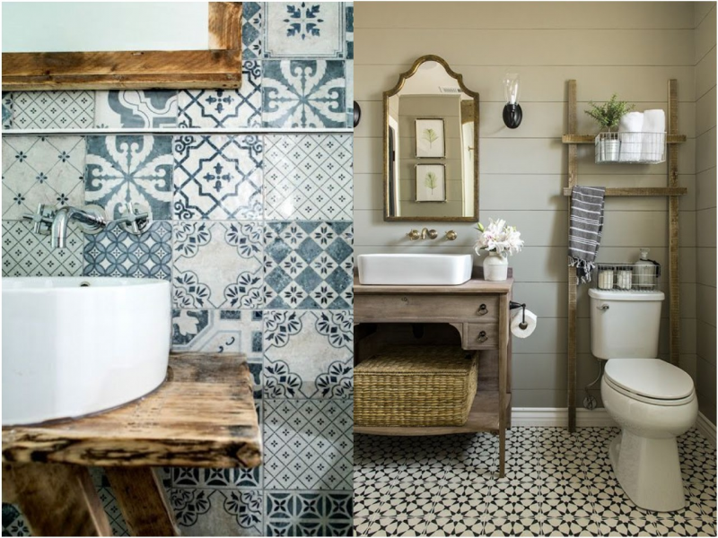 ALTERNATIVAS DE DECORACIÓN BAÑO VINTAGE